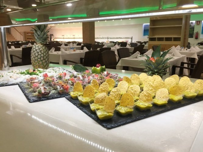 Buffet at the Restaurant 'Caribe' Magic Tropical Splash Aparthotel Benidorm