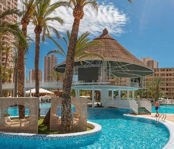 'Cayo Coco' Swim-up Bar and Giant LED Magic Tropical Splash Aparthotel Benidorm